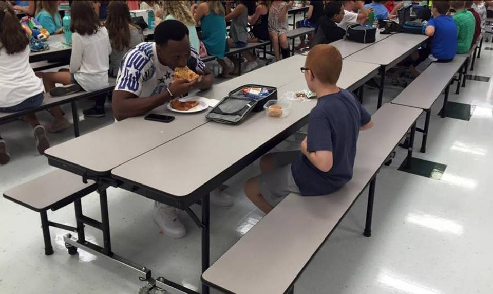 Autistic boy joined by FSU player for lunch